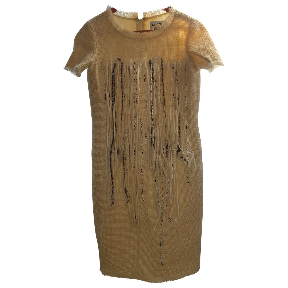 Chanel \N Ecru Wool dress for Women 38 FR