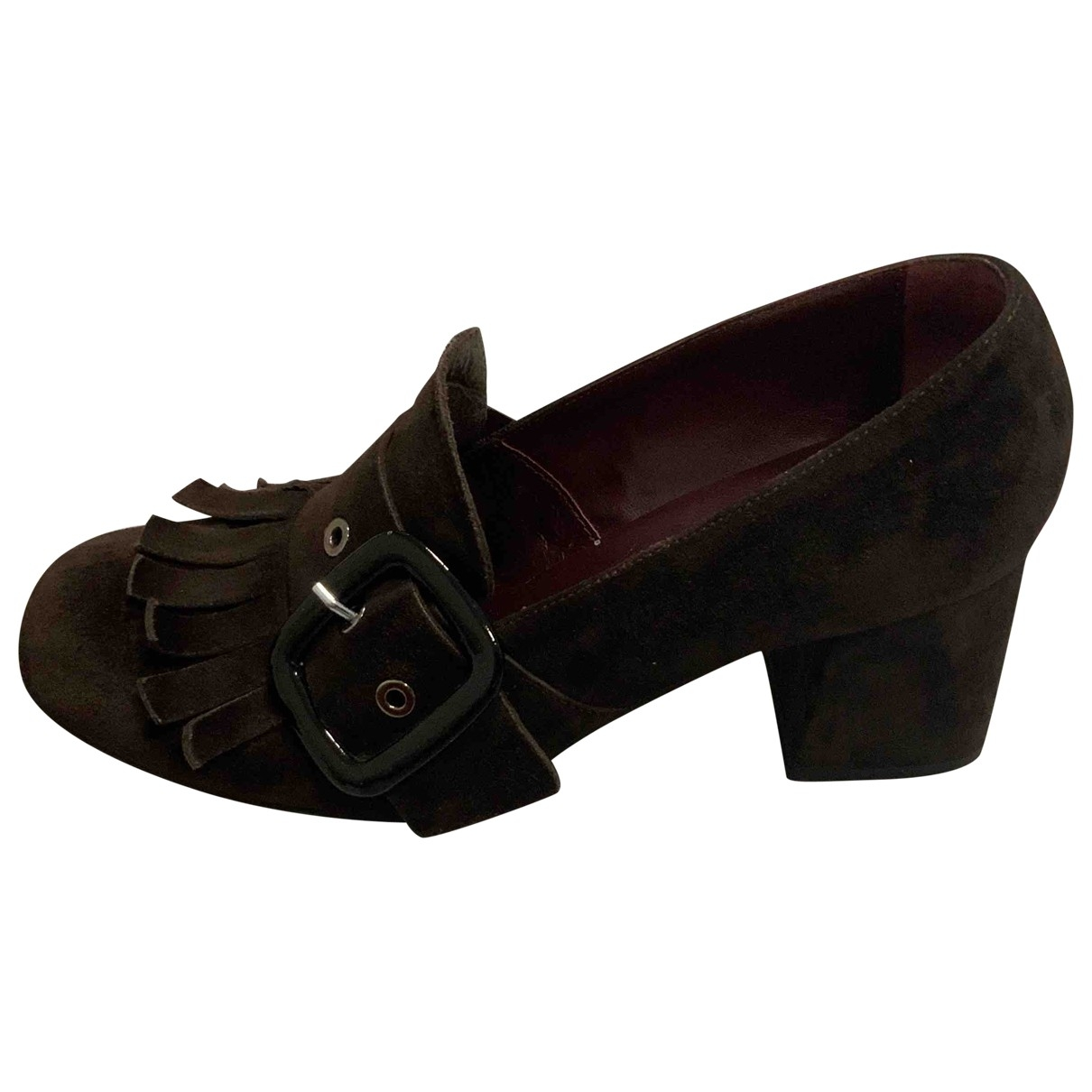 Non Signé / Unsigned \N Brown Suede Heels for Women 39 EU