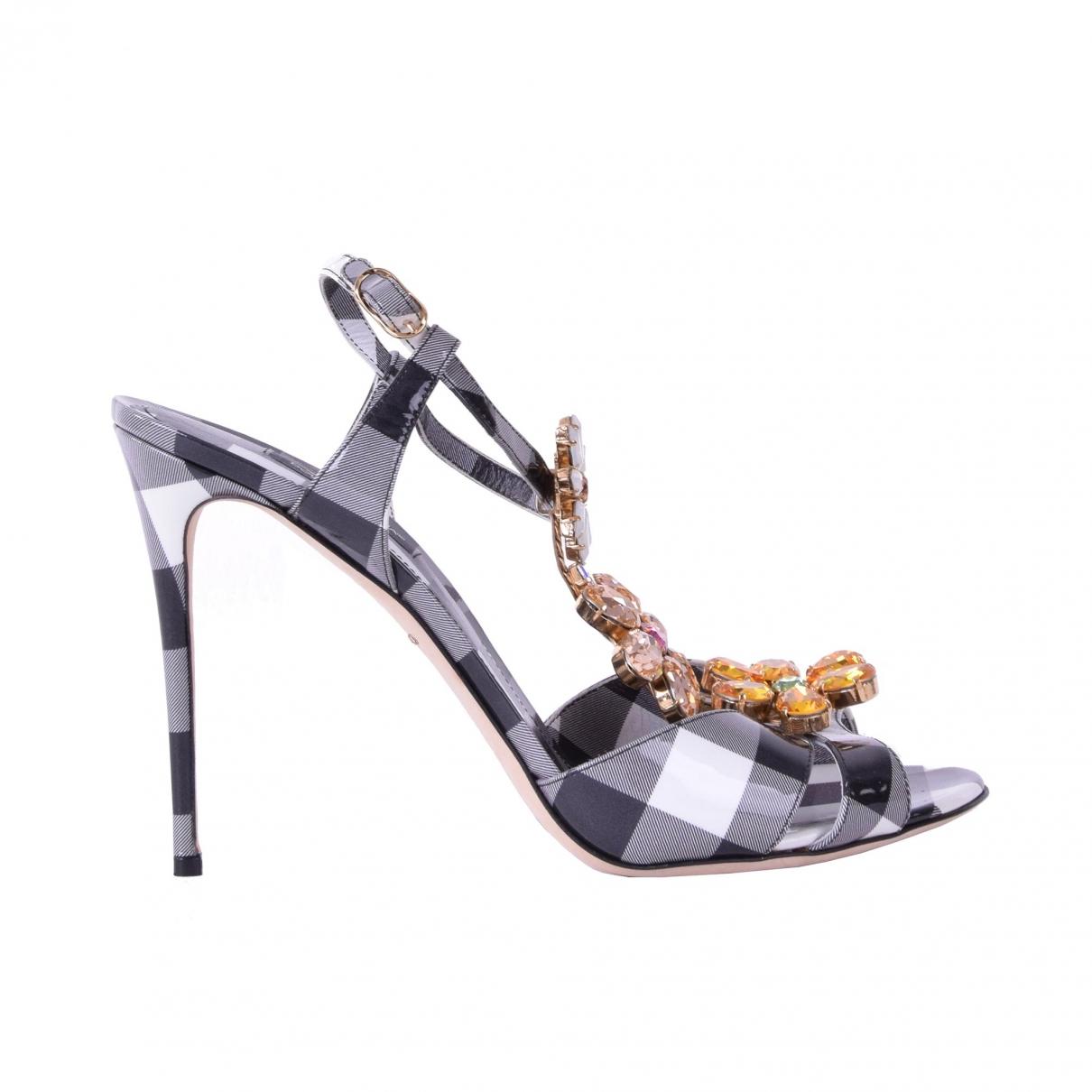 Dolce & Gabbana \N Black Leather Sandals for Women 40.5 EU