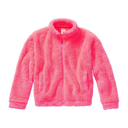 Arizona Little & Big Girls Faux Shearling Lightweight Jacket, 2x-large (20.5) Plus , Pink