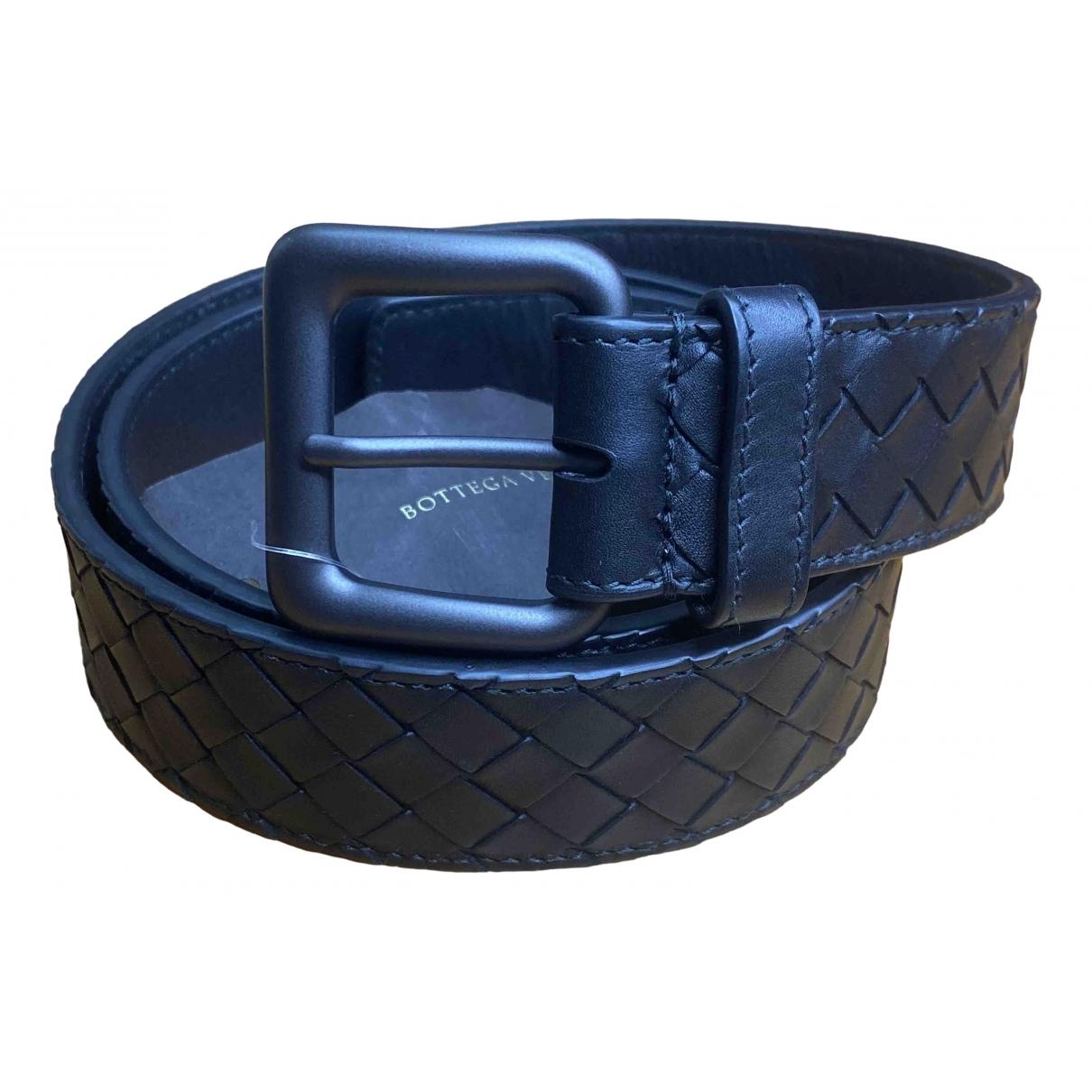Bottega Veneta \N Black Leather belt for Women 95 cm