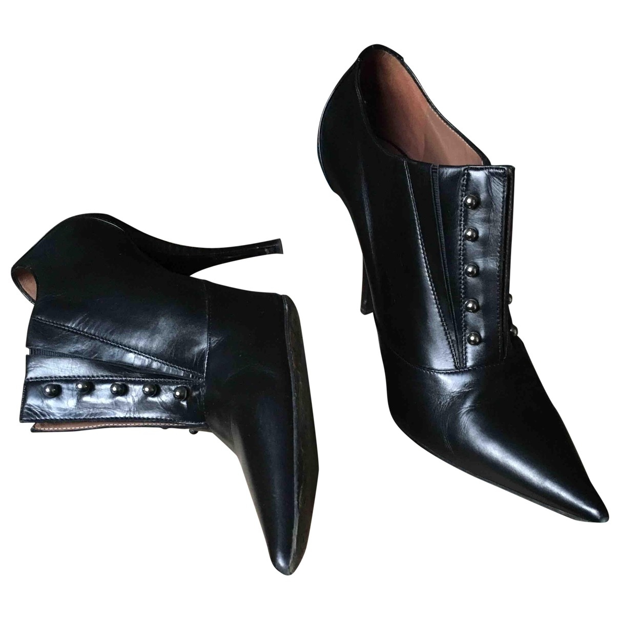 Tabitha Simmons \N Black Leather Heels for Women 38 EU