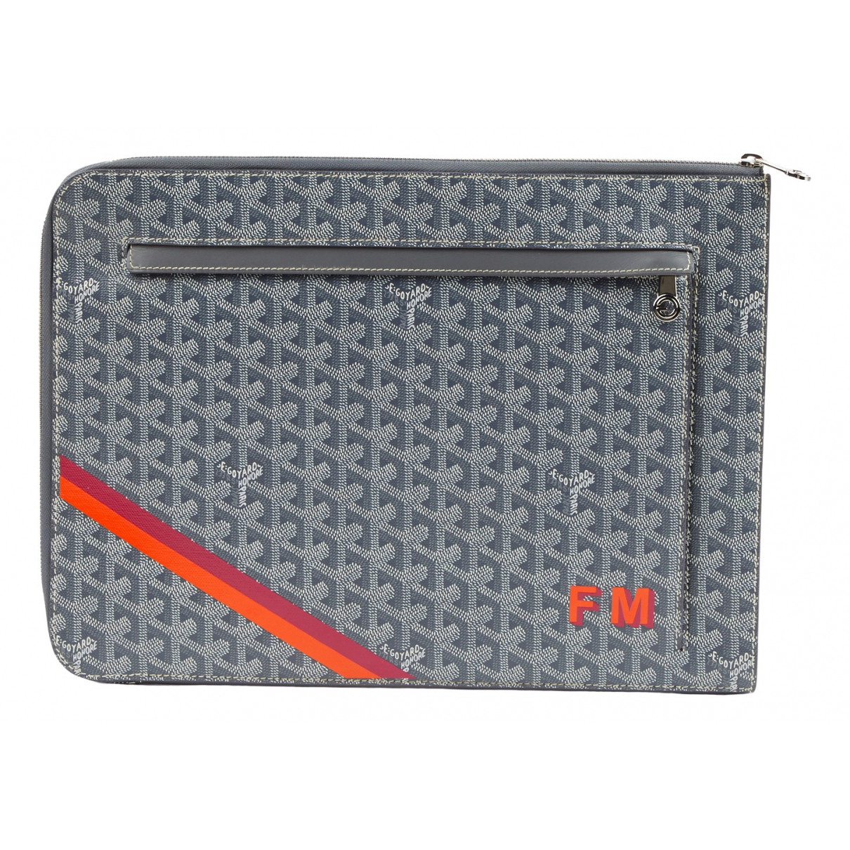 Goyard \N Grey Cloth Small bag, wallet & cases for Men \N