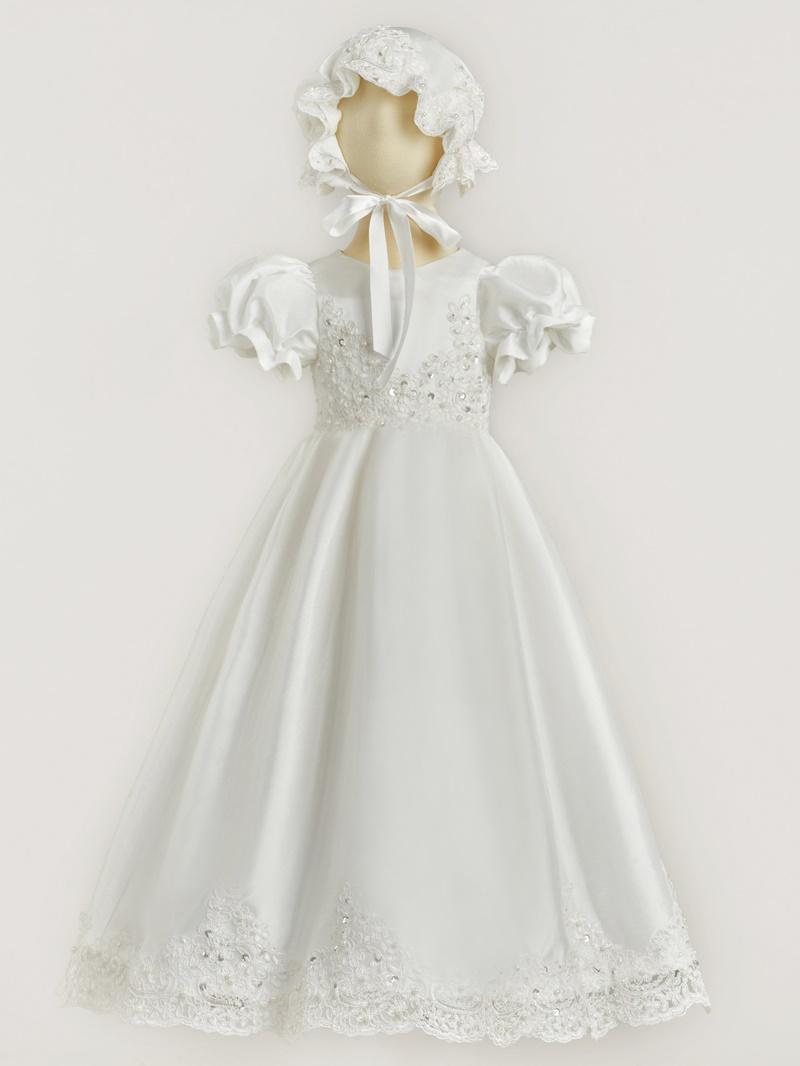 Ericdress Short Sleeves Sequins Appliques Christening Dress