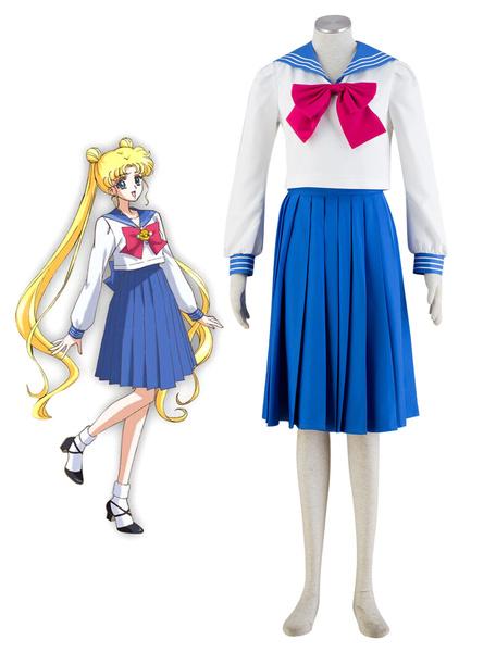 Milanoo Sailor Moon Tsukino Usagi School Girl Uniform Halloween Cosplay Costume