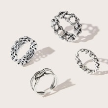 4pcs Chain Ring