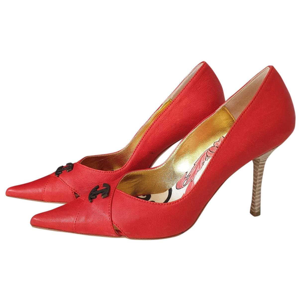 Just Cavalli \N Orange Leather Heels for Women 39 EU