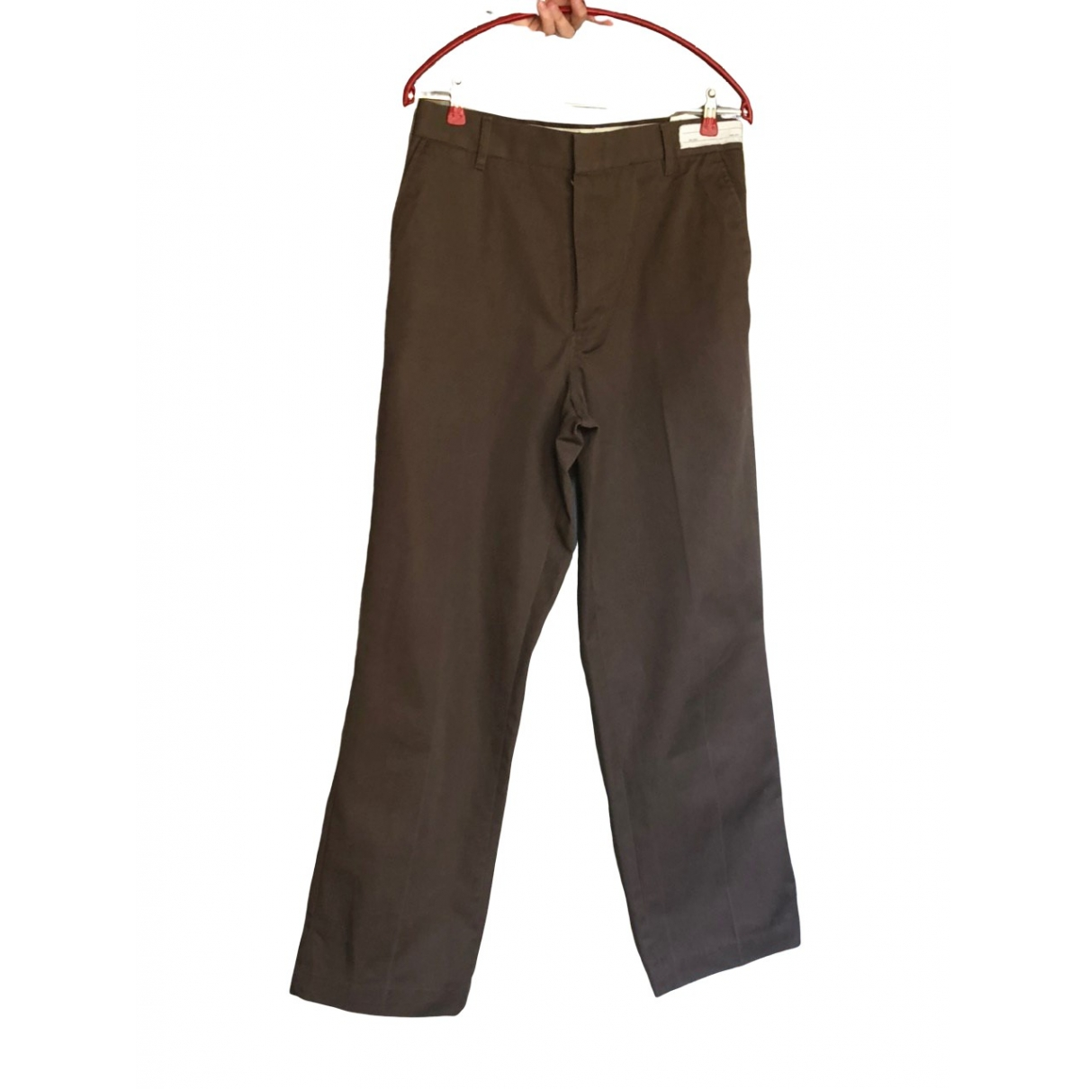 Non Signé / Unsigned \N Brown Cotton Trousers for Men 46 IT