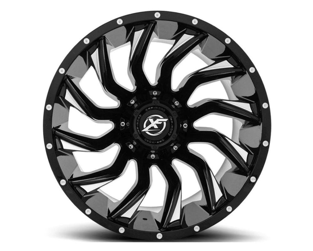 XF Off-Road XF-224 Wheel 20x10 5x127|5x139.7 -12mm Gloss Black Milled