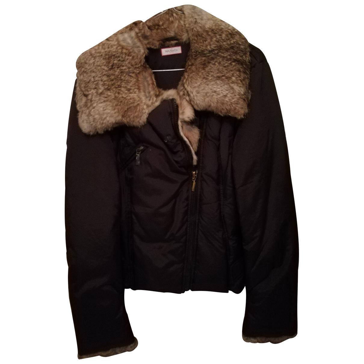 Max & Co \N Black Rabbit coat for Women 46 IT