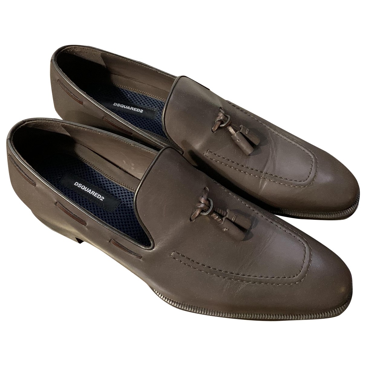 Dsquared2 \N Brown Leather Flats for Men 46 EU