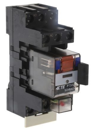 TE Connectivity , 24V dc Coil Non-Latching Relay 3PDT, 10A Switching Current DIN Rail, 3 Pole