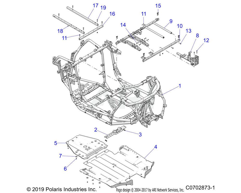 Polaris OEM 1023857-458 WELD-MAINFRAME, ISO, 64, BLK