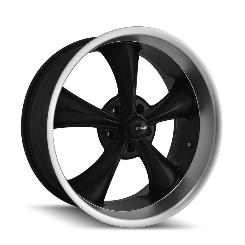 Ridler 695 Matte Black | Machined Lip 18x9.5 5x120.65 6mm 83.82mm Wheel