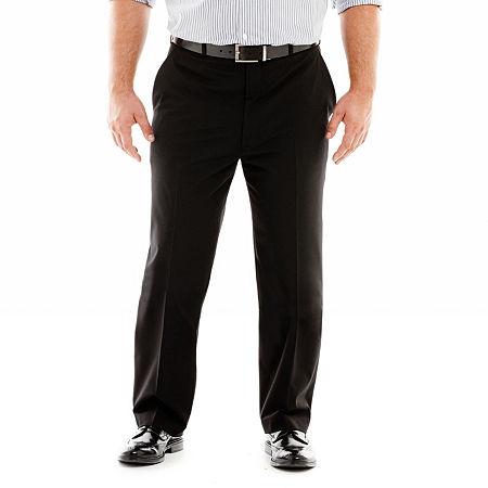 JF J. Ferrar Stretch Gabardine Suit Pants-Big & Tall, 42 34, Black