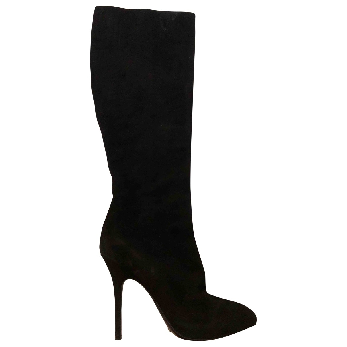 Dior \N Black Suede Boots for Women 38 EU