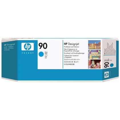 HP 90 C5055A Original Cyan Printhead and Printhead Cleaner