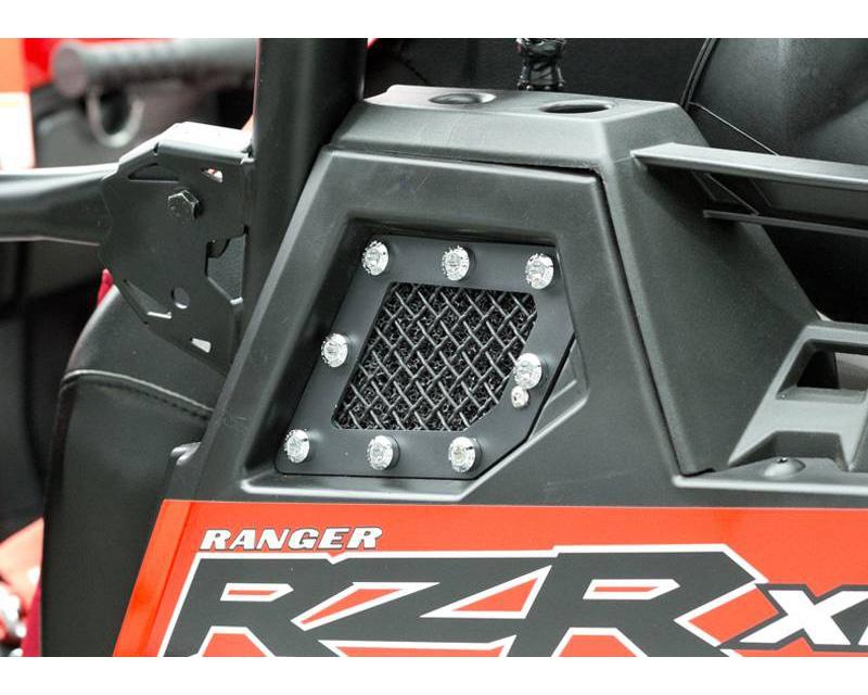 2011-2013 Polaris RZR XP 900 X-Metal Side Vent, Black, 2 Pc, Replacement, Chrome Studs - PN #6749001