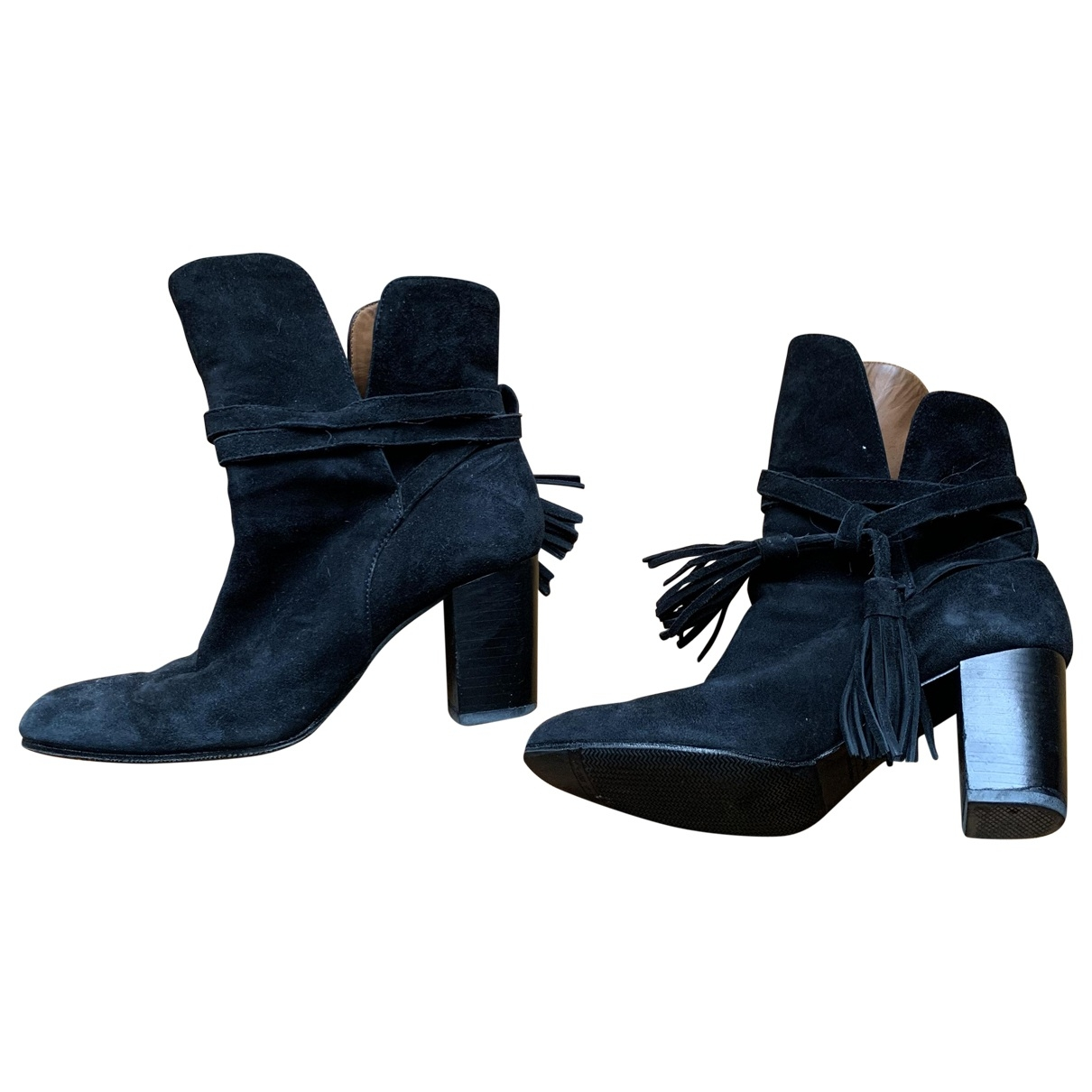 & Stories \N Black Leather Ankle boots for Women 37 EU