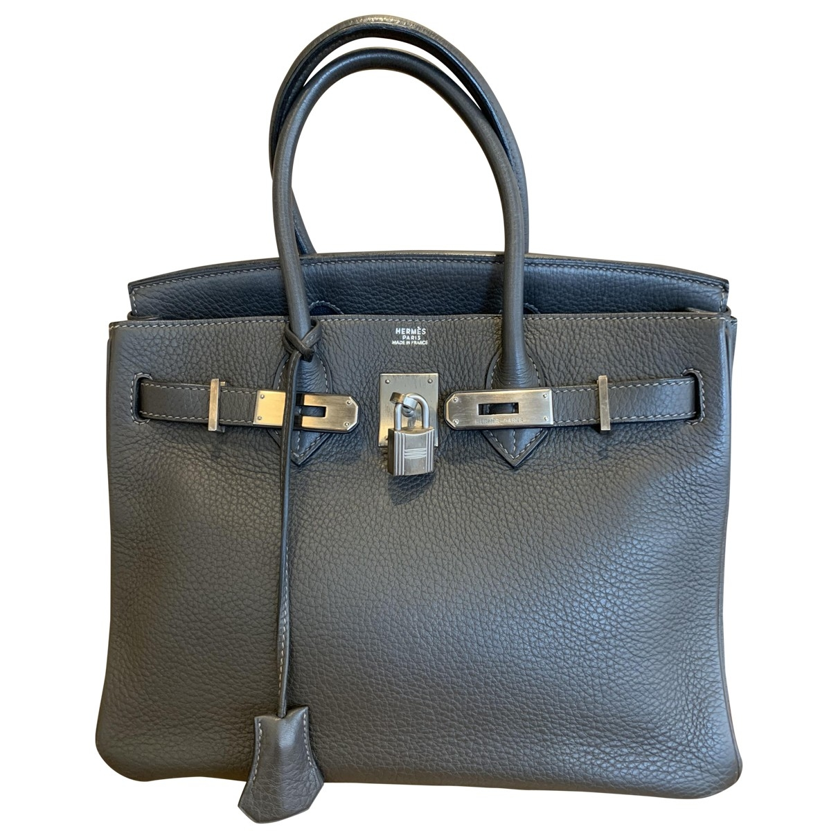 Hermès Birkin 30 Grey Leather handbag for Women \N