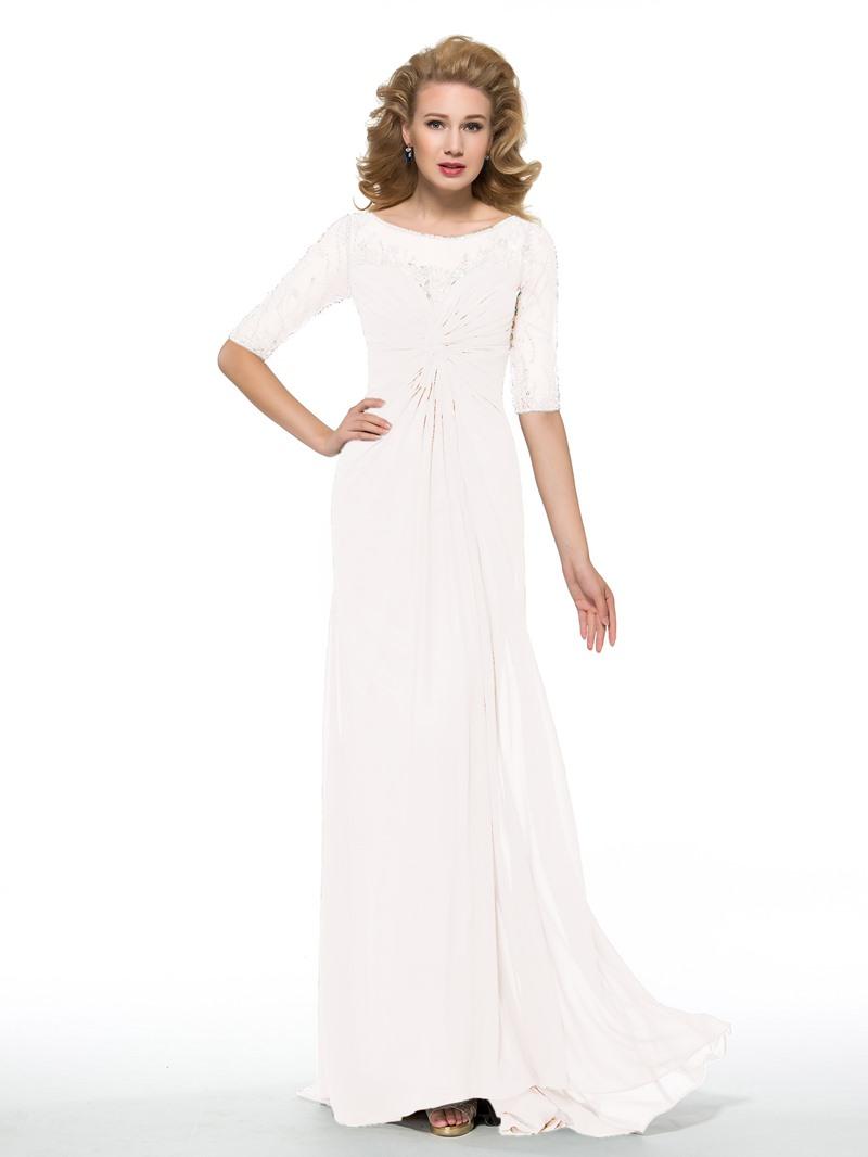 Ericdress Sheath Beading Half Sleeves Mother of the Bride Dress