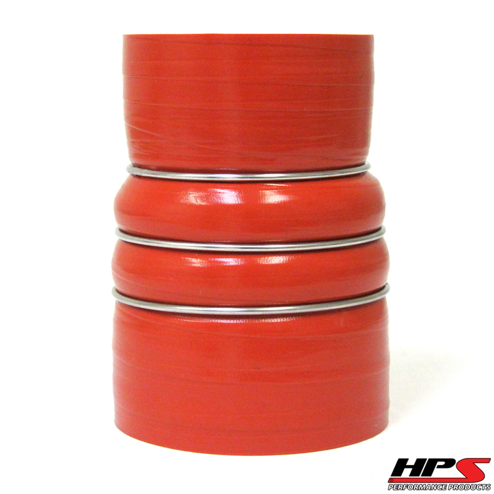 HPS 3 to 4inch 4-ply Reinforced Aramid CAC Charge Air Cooler Silicone Hose Reducer Coupler 7inch Long HOT Side