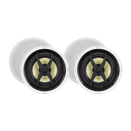 Haut-parleurs à encastrer dans le plafond à 2 voies, 8 po de fibre (paire) - Monoprice®