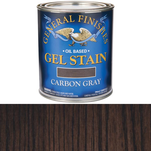 Carbon Gray Stain Gel Solvent Based Quart
