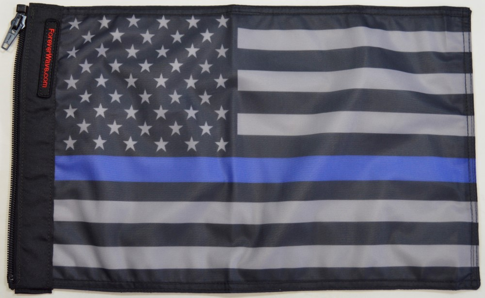 Forever Wave 5133 USA Subdued Thin Blue Line Flag