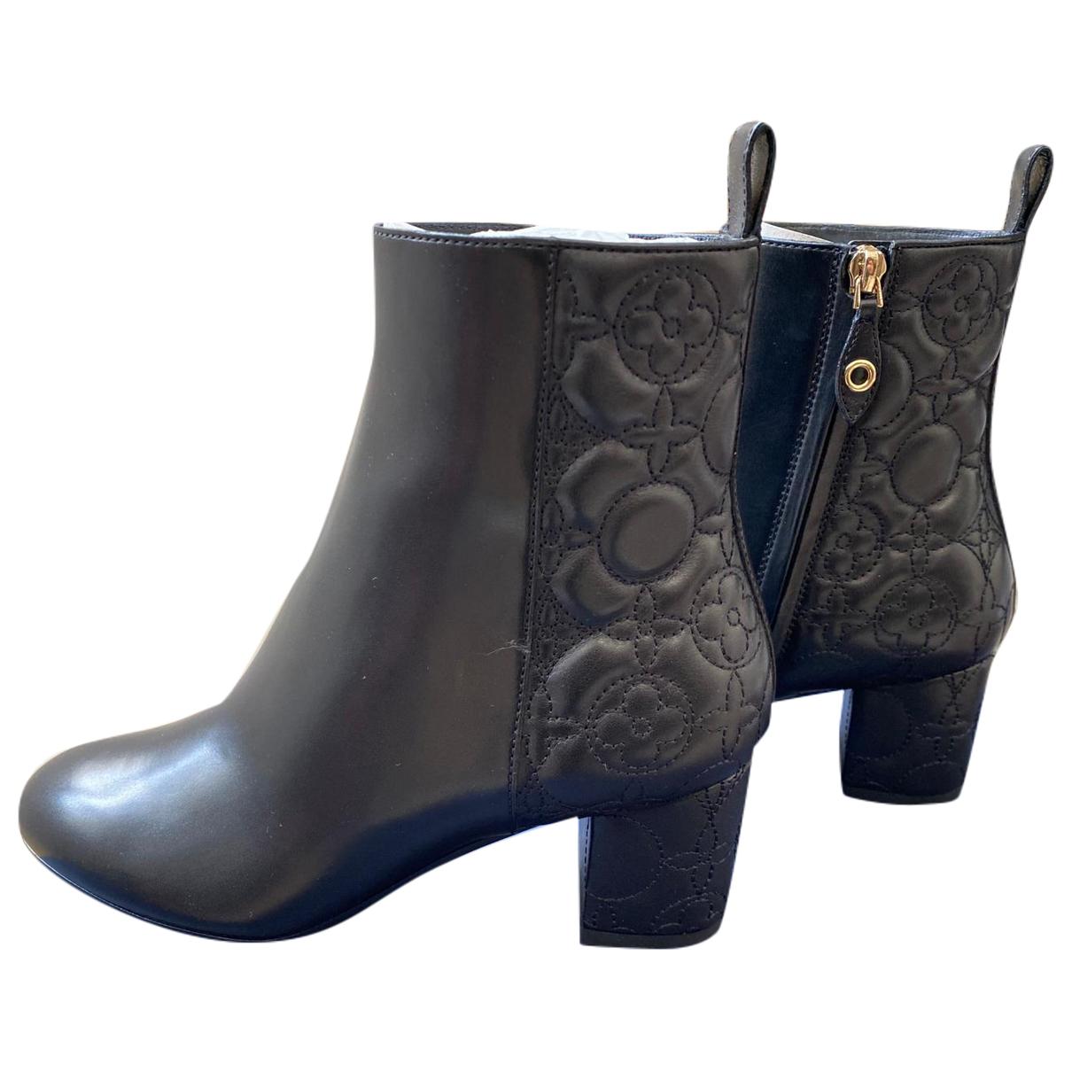 Louis Vuitton \N Black Leather Ankle boots for Women 36 EU