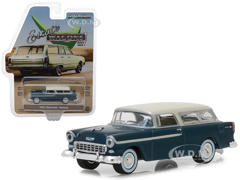 1955 Chevrolet Nomad Glacier Blue with Cream Top