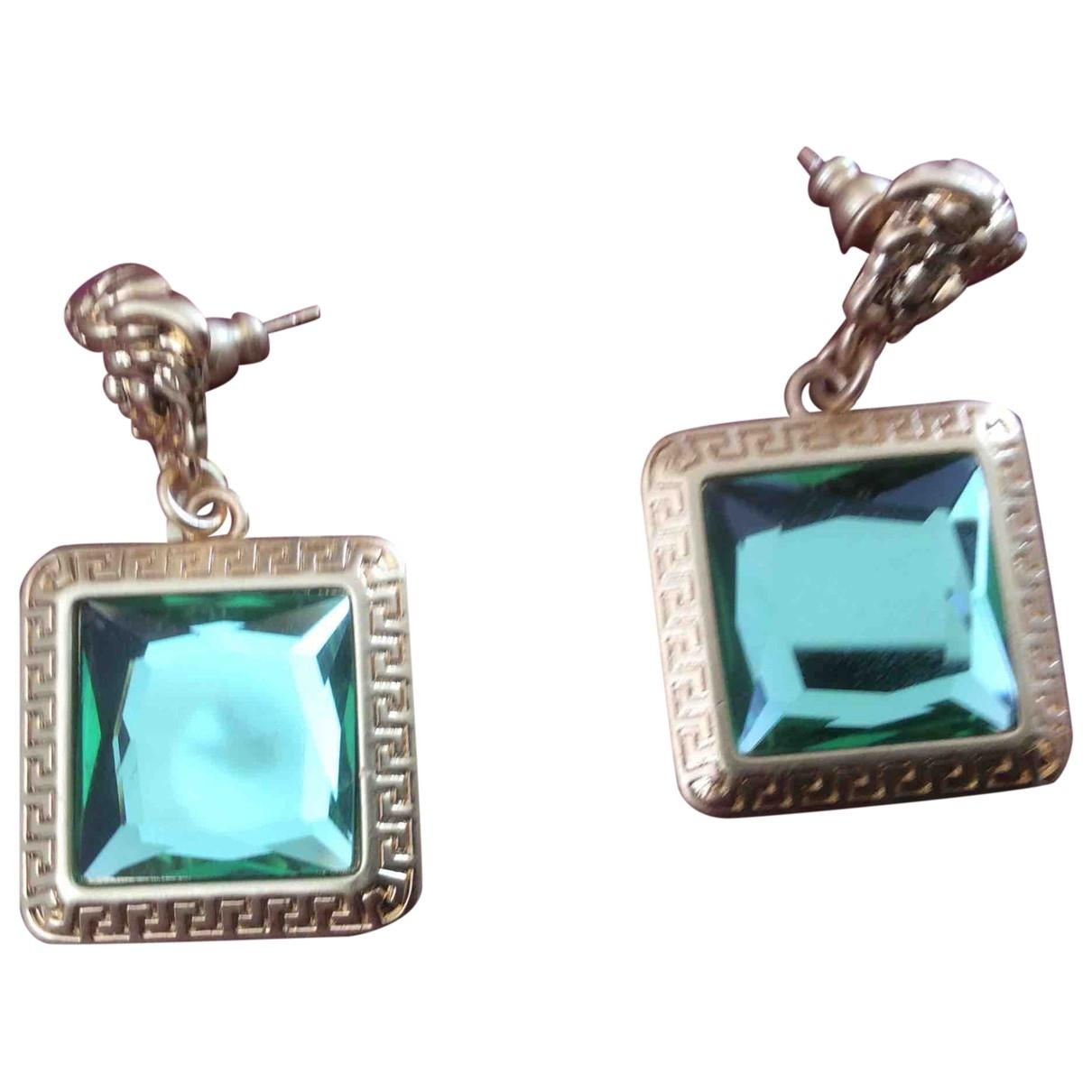 Versace \N Green Metal Earrings for Women \N