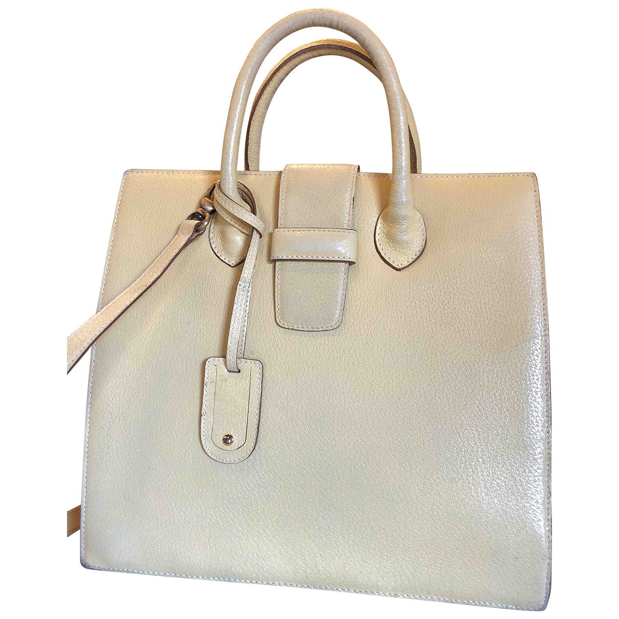 Malo \N Yellow Leather handbag for Women \N