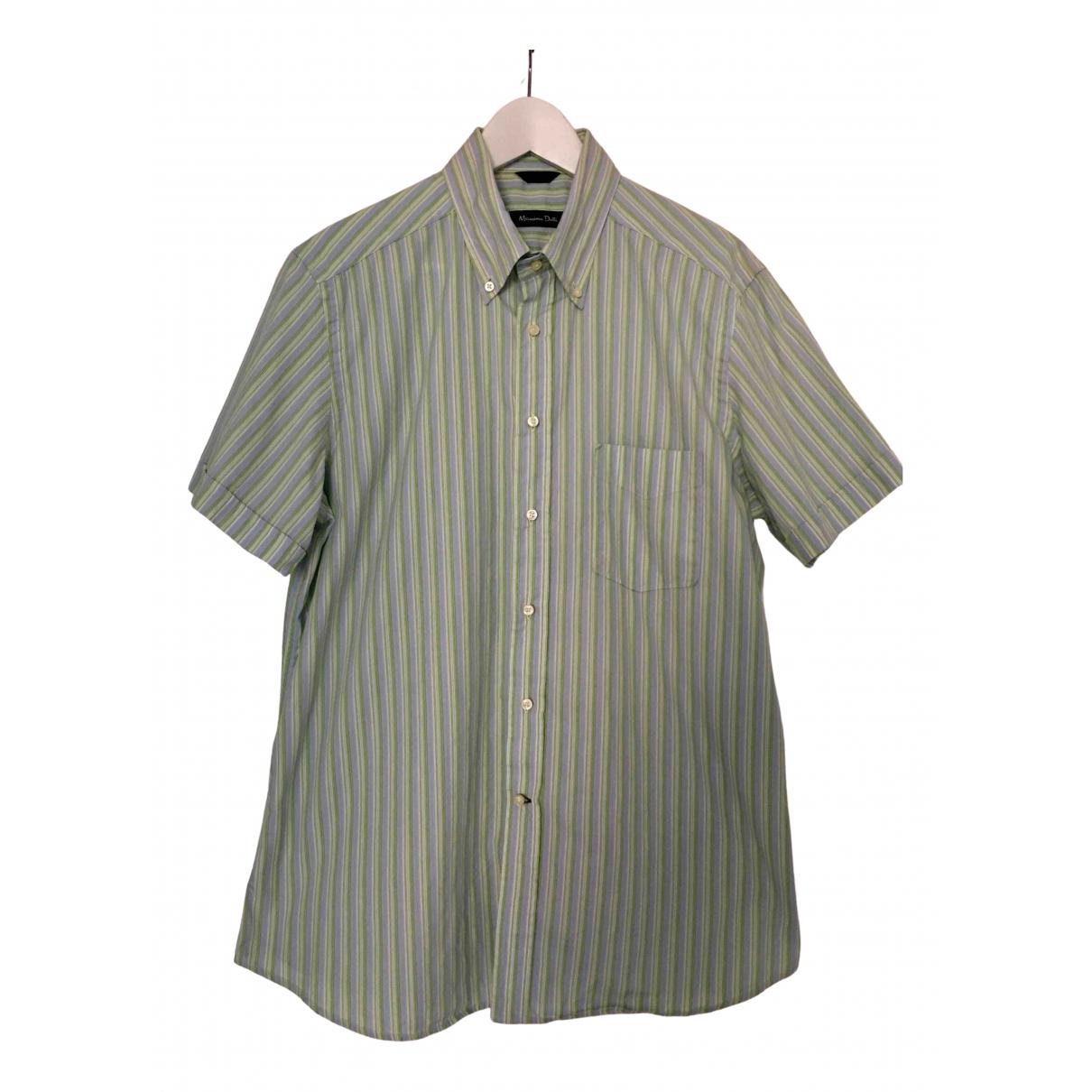 Massimo Dutti \N Blue Cotton Shirts for Men L International