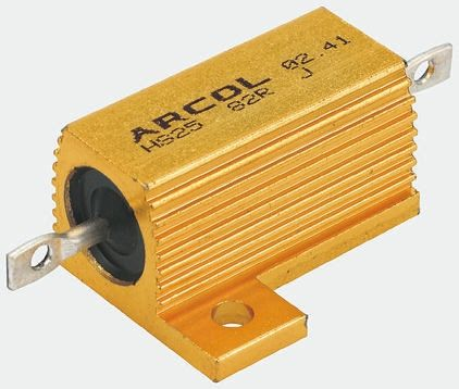 Arcol HS10 Series Aluminium Housed Axial Wire Wound Panel Mount Resistor, 680mΩ ±5% 10W