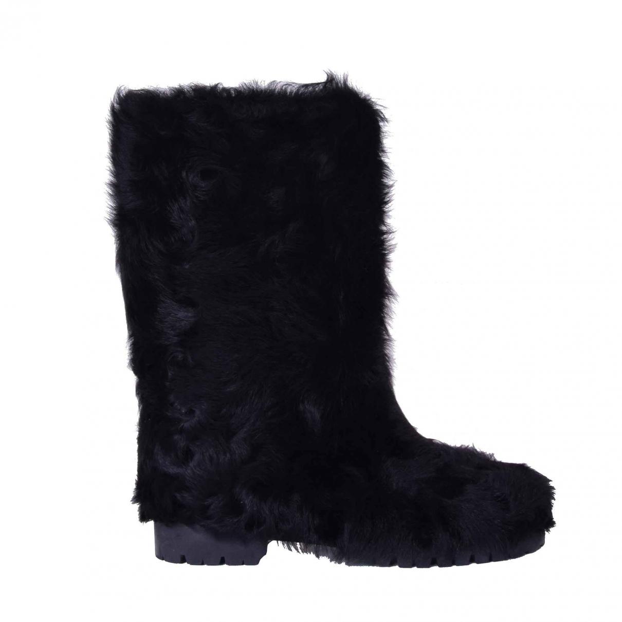 Dolce & Gabbana \N Black Fur Boots for Women 39 EU