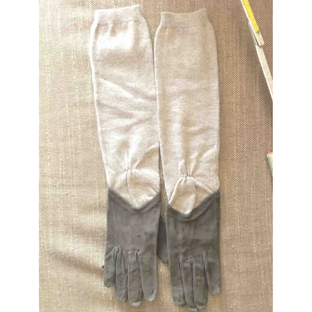 Malo \N Brown Cashmere Gloves for Women 7.5 Inches