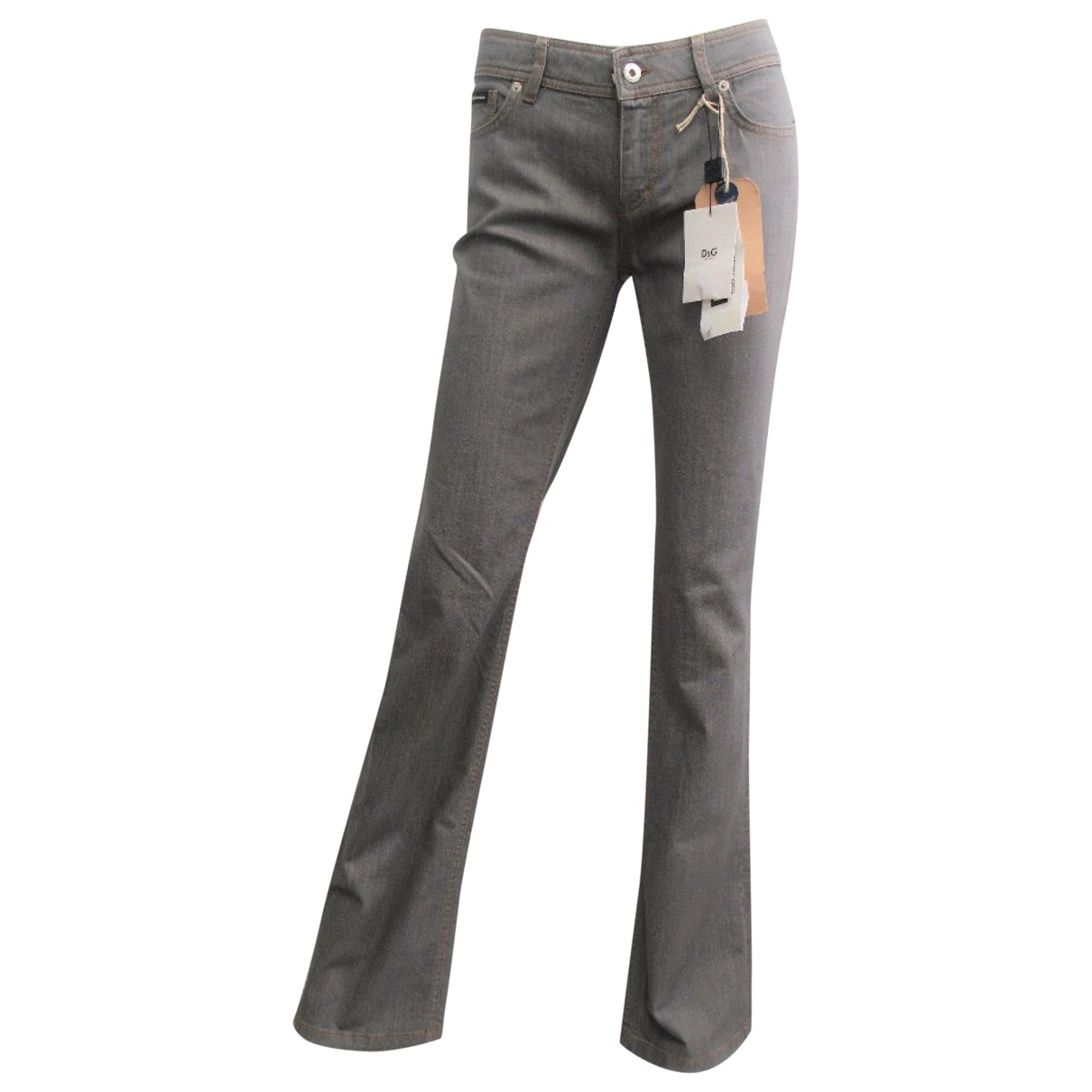 D&g \N Grey Cotton - elasthane Jeans for Women 29 US