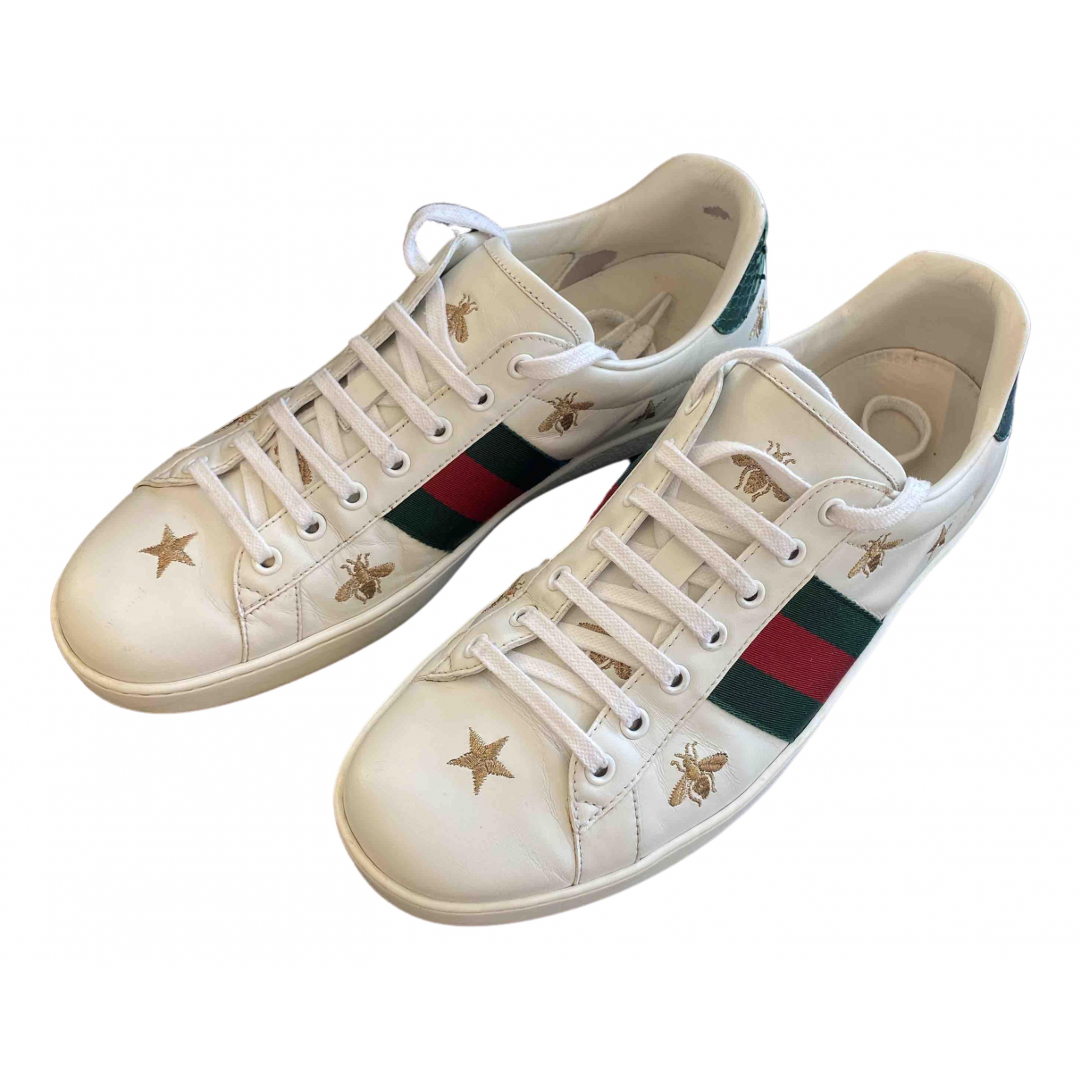 Gucci Ace White Leather Trainers for Men 43 EU
