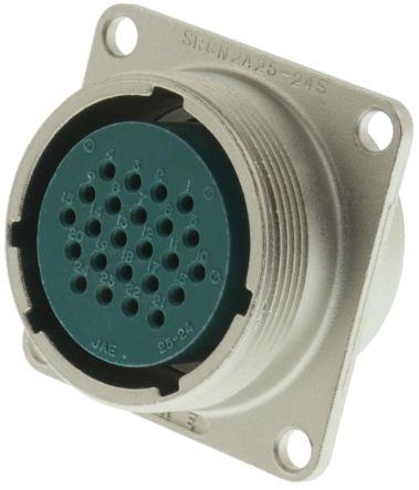 JAE Connector, 24 contacts Box Mount Miniature Socket, Solder (5)
