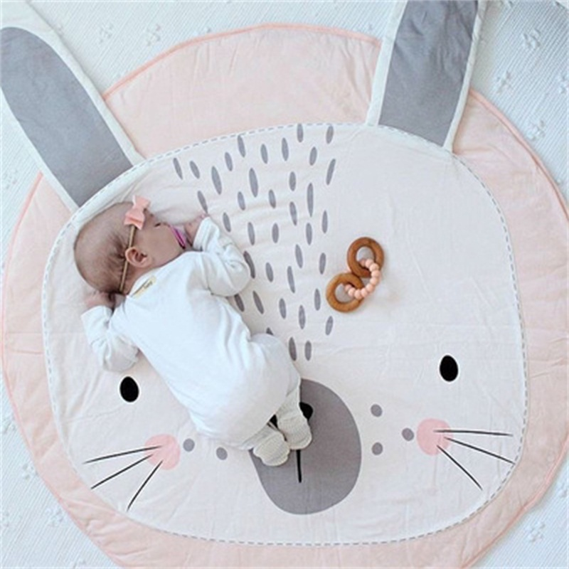Rabbit Shaped Cotton Baby Play Floor Mat/Crawling Pad