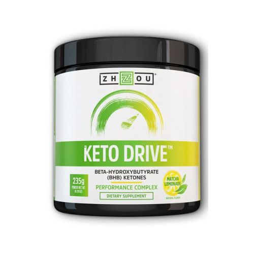Keto Drive Matcha Lemonade 8.47 Oz by Zhou Nutrition