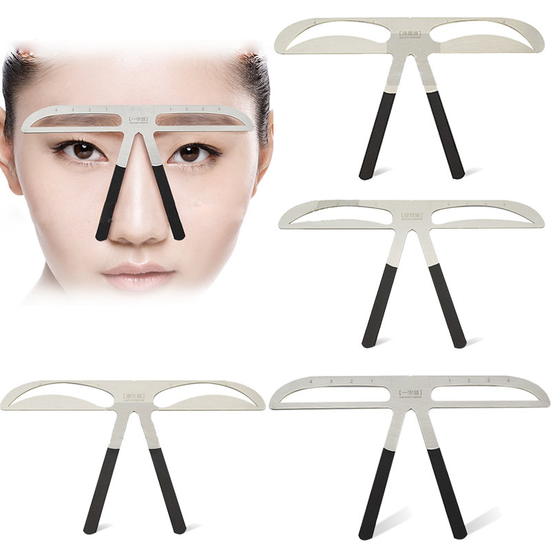 Eyebrow Tattoo Caliper Three-point Positioning Eyebrow Ruler Eyebrow Design Ruler