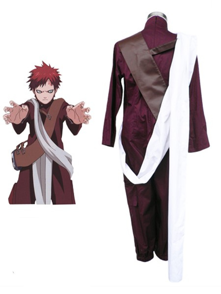 Milanoo Naruto Gaara 3th Cotton Polyester Cosplay Costume Halloween