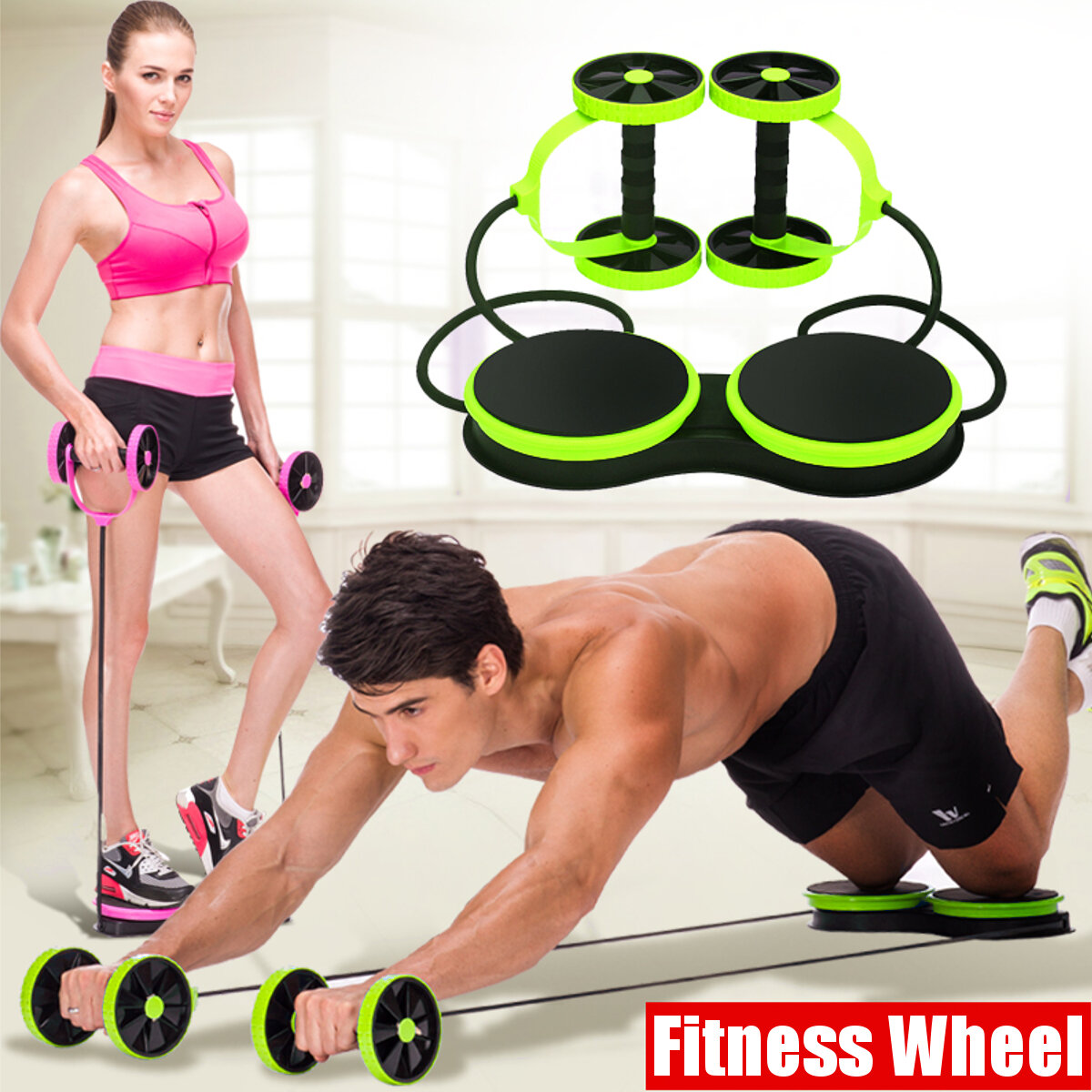 Double Wheel AB Roller Sport Core Fitness Abdominal Exercises Equipment Waist Slimming Trainer Abdominal Tr