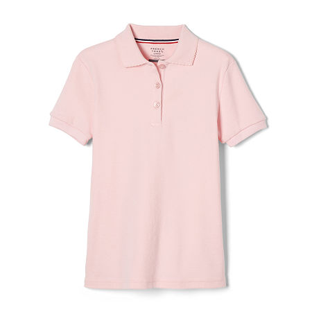 French Toast Little Girls Short Sleeve Polo Shirt, X-small , Pink