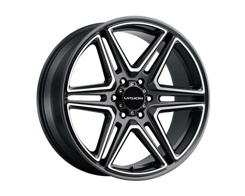 Vision Wheels 476-24984GMMF30 Wedge Wheel 24x9.5 6x139.70 30 DGMEMS Gunmetal Machined Face