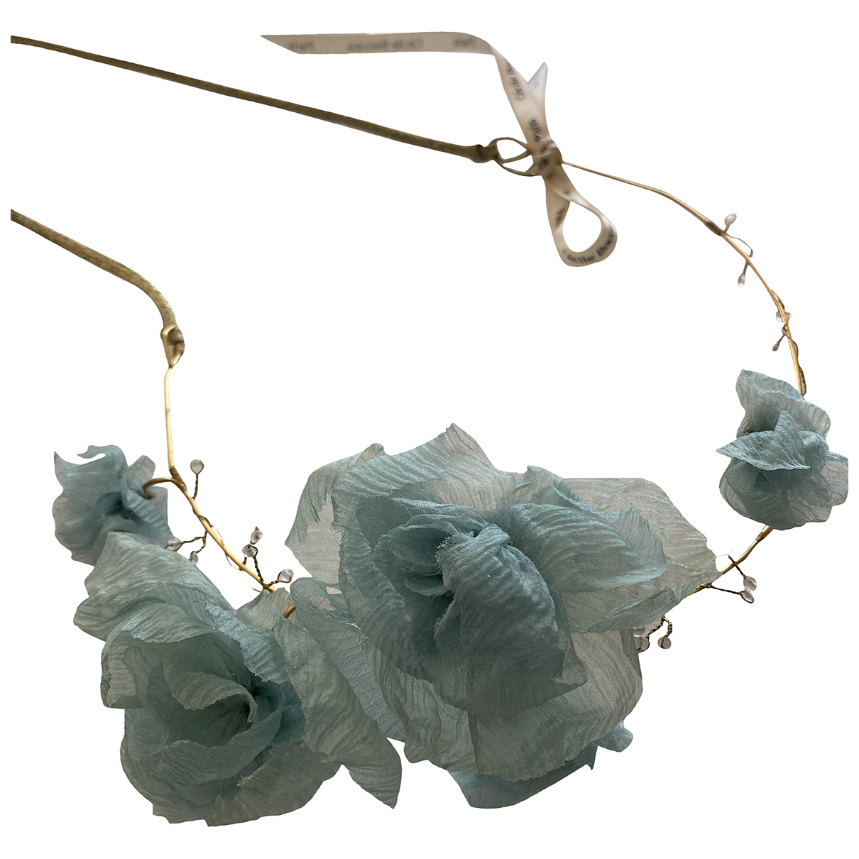 Non Signé / Unsigned \N Blue Gold plated Hair accessories for Women \N