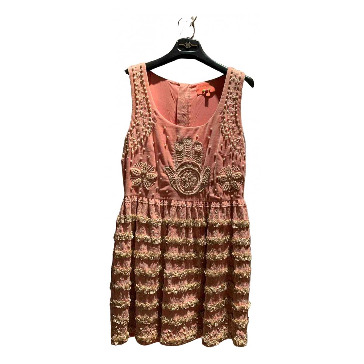 Manoush \N Pink Velvet dress for Women 40 FR