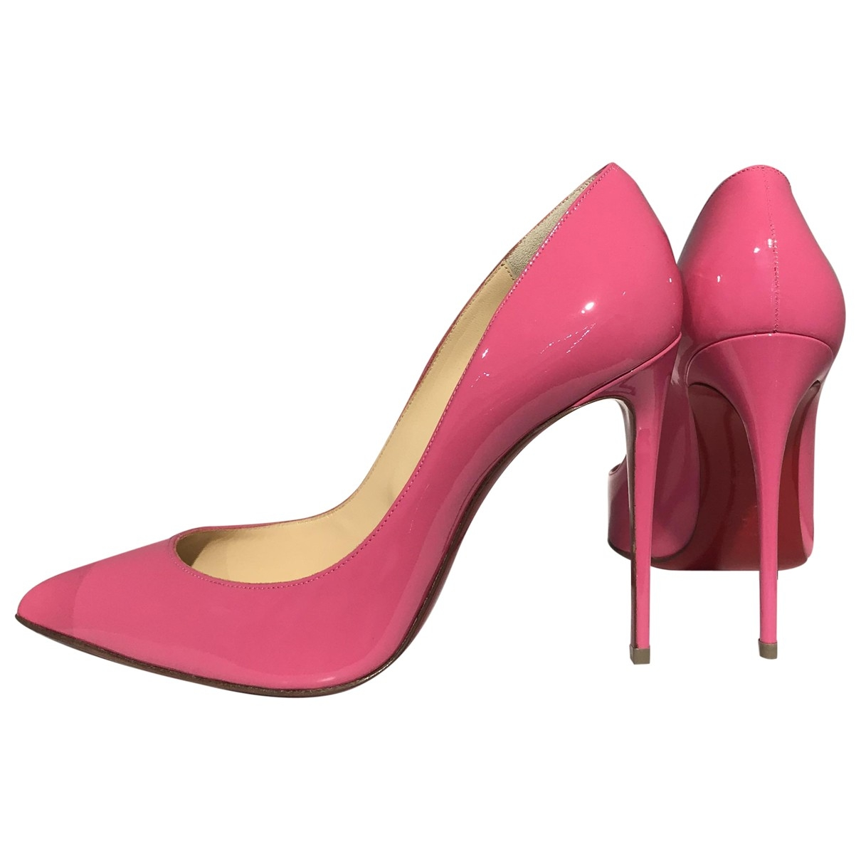 Christian Louboutin So Kate  Pink Patent leather Heels for Women 38.5 EU